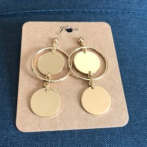 J.crew Double Disc Earrings, NWT